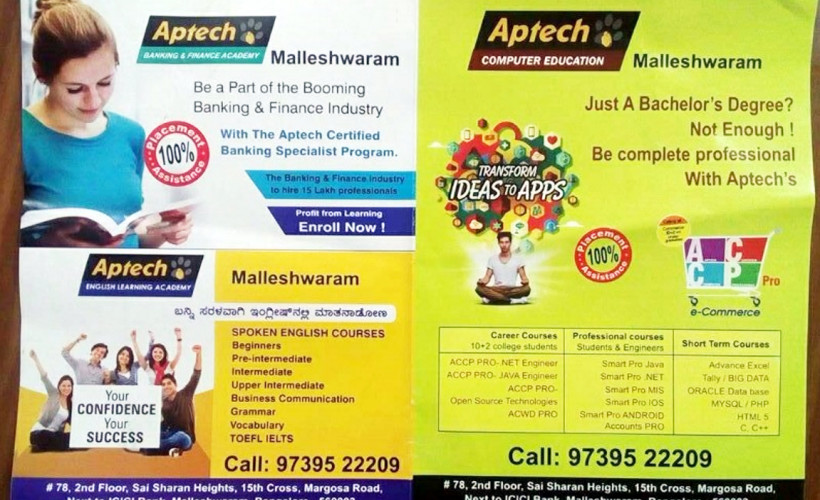 Aptech Computer Education In Malleswaram Bangalore 560003 Dial24hour Bangalore